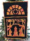 Pieced  Quilted Nativity Scene Wall hanging Batik The Three Wisemen 3 Kings