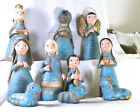 2521 Mexican Nativity replacement parts incomplete 10 piece set