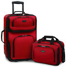 Carry on Rio Red Rolling Lightweight Expandable Suitcase Tote Bag Luggage Set