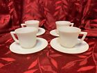 Vintage Hazel Atlas Milk Glass Child's Tea Cup and Saucer Set 4 Sets