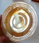 Vintage Peach Lustre Three Bands Lot of 5 Saucers by Fire King Anchor Hocking