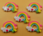 DIY 5 25 50 100PCS Colorful Rainbow Flatback Resin Cabochon Scrapbooking Crafts
