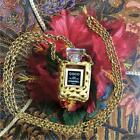 Authentic CHANEL COCO perfume bottle necklace EMS F/S