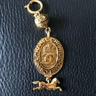 Authentic CHANEL vintage necklace pendant top with horses motif EMS F/S
