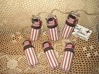 6 Patriotic handmade fabric firecrackers bowl fillers Country Home Decor