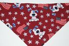 Dog Bandana OVER THE COLLARclothes pet Size MLXL Patriotic Pups Maroon