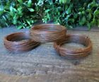 3pc Lot 50 ft Coils 24 gauge Primitive Rusty Tin Wire Craft Supply Rusted Rolls