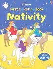 NATIVITY COLOURING AND STICKER BOOK FIRST COLOURING BOOKS WITH By Felicity NEW
