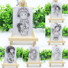 Cute Girl DIY Transparent Clear Silicone Rubber Stamp Scrapbooking Card Craft