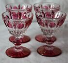 4  Vintage INDIANA Glass RUBY RED FLASH Classique COLONY Sherbets