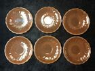 REPLACEMENT FIRE KING PEACH LUSTRE SAUCERS SET OF 6