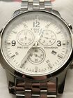 TISSOT MENS SWISS PRC 200 CHRONOGRAPH WATCH WHITE DIAL MINT CONDITION