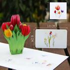 3D Pop Up Card Flower Thanksgiving Day Tulip Holiday Creative New Hot Gift Cards