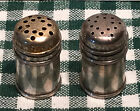 PAIR OF STERLING SILVER MINIATURE SALT  PEPPER SHAKERS MINT MARKED 125 TALL