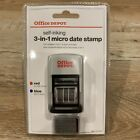 Office Self Inking 3 In 1 Date And Message Stamp Received Paid Faxed