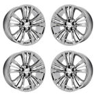 20 CADILLAC CT6 PLATINUM PVD CHROME WHEELS RIMS FACTORY OEM 4764 EXCHANGE