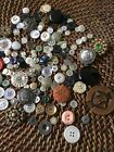 VINTAGE BUTTON LOT SEWING COLLECTABLES scrapbooking card making jewelry use