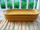 RETIRED FIESTA Marigold Relish/Corn Trays. Four available.