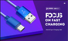 gocomma USB31 Network Cable for Android Type C Fast Charge DODGER BLUE 1PC
