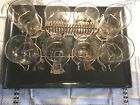 COUROC MID MODERN LARGE TRAY WITH SET OF 8 GLASSES AND CARRIER SOUTHWEST THEME