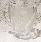 VINTAGE MID-20TH CENTURY JEANNETTE GLASS CLEAR / FROSTED PITCHER - 5
