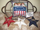 Patriotic shelf sitter stars bowl fillers fabric handmade Americana Home Decor