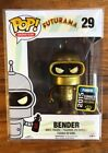 FUNKO POP FUTURAMA SERIES BENDER LIMITED GOLD 2015 SUMMER CONVENTION EXCLUSIVE