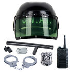 7Pcs Kids Police Motorcycle Cop Helmet Officer Accessory Role Play Costume Set