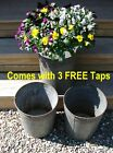 3 Vintage VERMONT Maple Sap Buckets+Taps~Country Farmhouse~Spring Flowers!