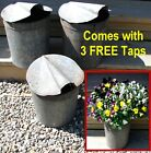 3 Vintage VERMONT Maple Sap Buckets+Covers+Taps~Country Farmhouse~Spring Flowers