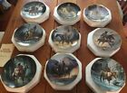 Native American Collection of 9 Hamilton Indian Mystic Warrior Display Plates