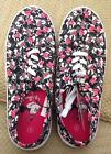 NEW DISNEY MINNIE MOUSE LACE UP SNEAKERS ADULT 8 SOLD OUT BLACK PINK BOWS DOTS