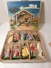 Vintage Kurt Adler Nativity Set w Box Made in Italy 12 pcs Ca 1960s