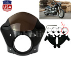 Headlight Gauntlet Fairing w Trigger Lock Mount For Harley Sportster 1986 2016