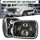 For 87 95 Jeep Wrangler YJ 84 01 Cherokee XJ 2X DOT Approved 7X6 LED Headlight