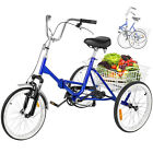 Folding Adult Tricycle 20 Portable Bicycle 3 Wheel Tricycle Trike Cruise Bike