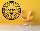 Vinyl Sticker Aztec God Mandala Native Sun Big Mural Decal Wall Art Decor hi313