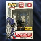 Funko Pop! Transformers Optimus Prime with Sword #110 Hot Topic Exclusive!