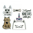 Cute Meow Cat Metal Cutting Dies And Stamps Set For DIY Scrapbooking Embossing P