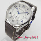 42mm parnis White Dial Luminous marks ST1731 Automatic Mechanical men's Watches