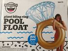 Big Inflatable Diamond Ring Big Mouth Giant Bling Ring Pool Float