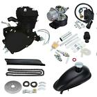 Full Set Bike Motor 2 Stroke 80cc Petrol Gas Motorized Bicycle Engine Kit New US