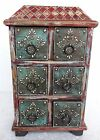 Wood Drawers Box Hand Made Painted Trinket jewelry Drawers Old Design Box