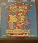 Pac-Man Goes to Playland Paperback Book and Record See Hear Read Kid Stuff