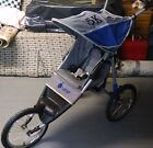 InSTEP 5K Blue Grey Jogger Single Seat Fixed Wheel Stroller Pacific Cycle