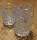 3 Anchor Hocking WEXFORD Shot Glasses Toothpick  Set Of Three 1960's Art Deco