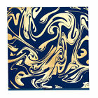 Bazzill 12x12 Foil Gold Marble Whirly Pop 1pc Scrapbook Paper