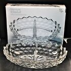 Vintage New in Box Indiana Glass American Whitehall Divided Relish Dish !