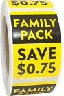 Family Pack Save Amount Sale Retail Stickers 2 X 3 Inches Pick One Price