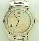 EBEL Stainless Steel 1911 Series Mother of Pearl Dial Diamond Bezel Watch (6